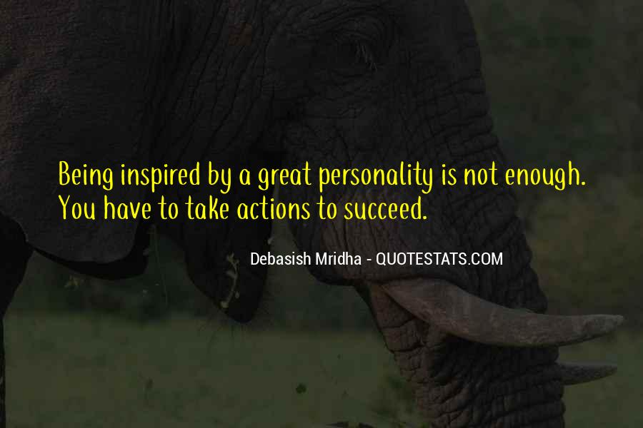 Being Great Quotes #7315