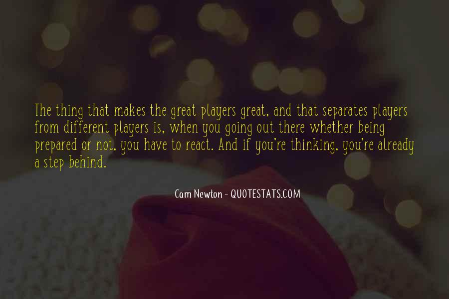 Being Great Quotes #8359