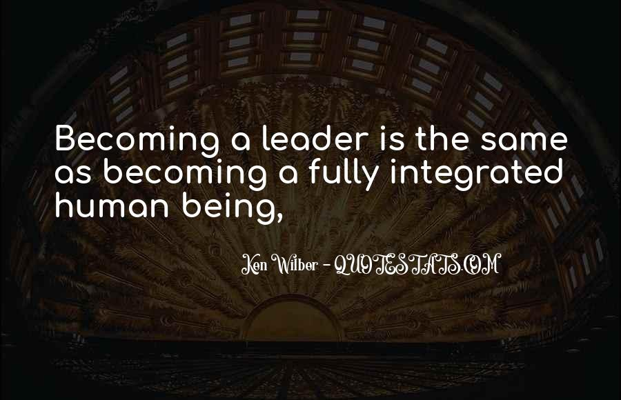 Being The Best Leader Quotes #122863