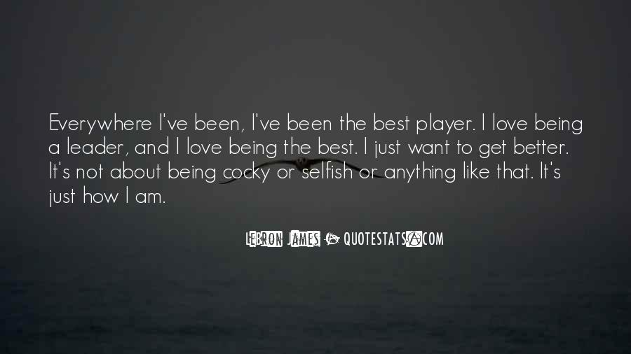 Being The Best Leader Quotes #150709