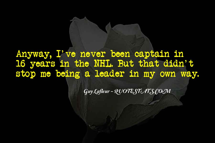Being The Best Leader Quotes #157242
