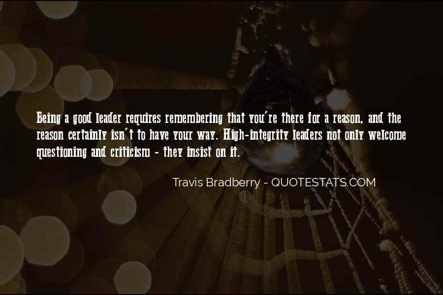 Being The Best Leader Quotes #243013