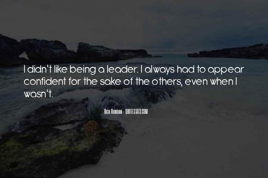 Being The Best Leader Quotes #256967