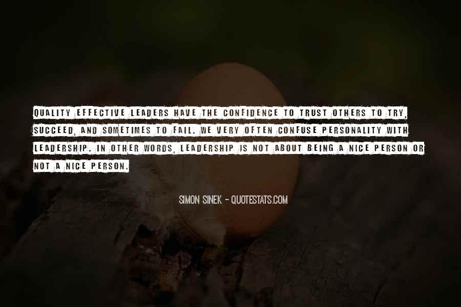 Being The Best Leader Quotes #276987