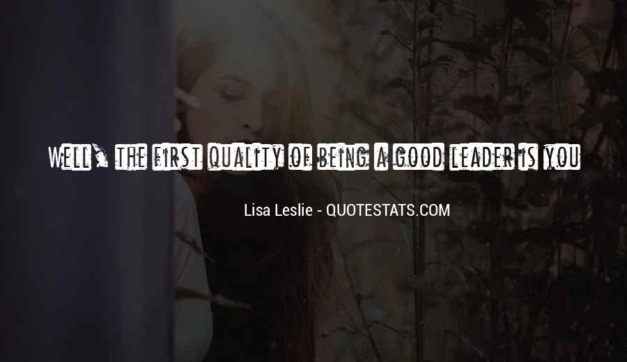 Being The Best Leader Quotes #59495