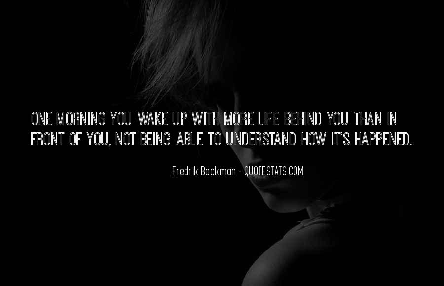 Being Up Front Quotes #1161138