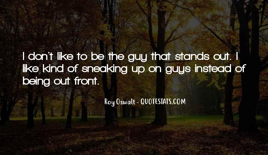 Being Up Front Quotes #1766380
