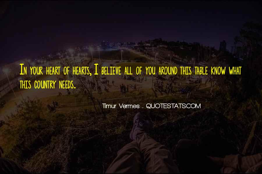Believe In Your Heart Quotes #85187