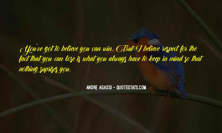 Believe You Can Win Quotes #505290