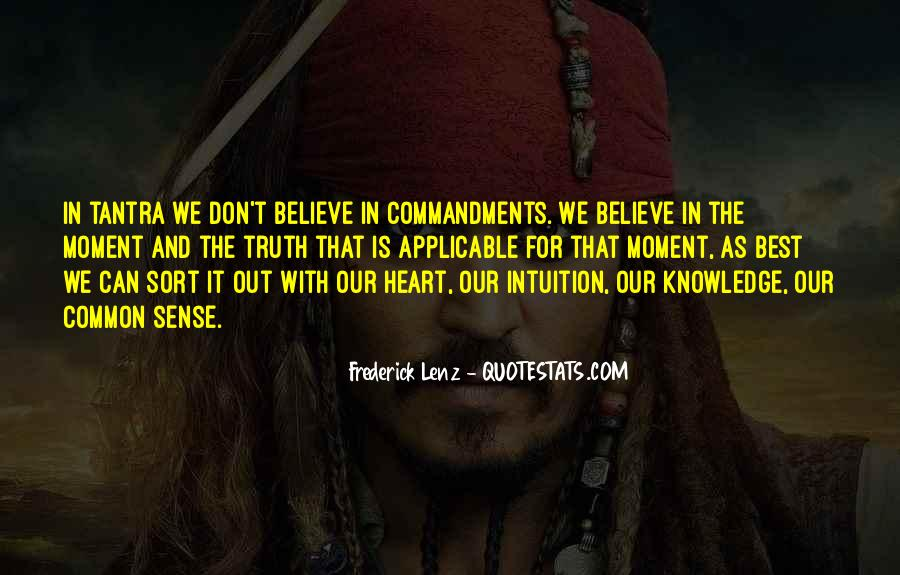 Believe Your Intuition Quotes #257881