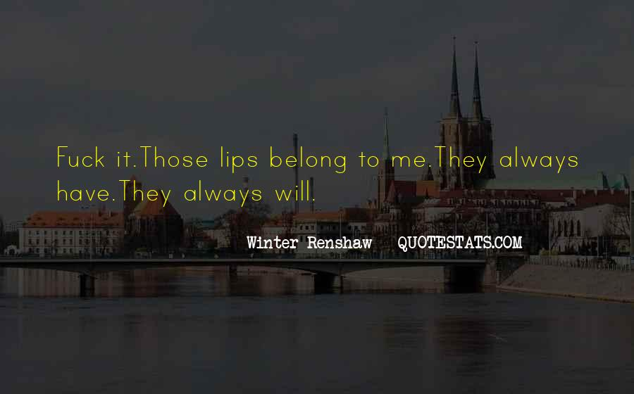Belong To Me Quotes #148786