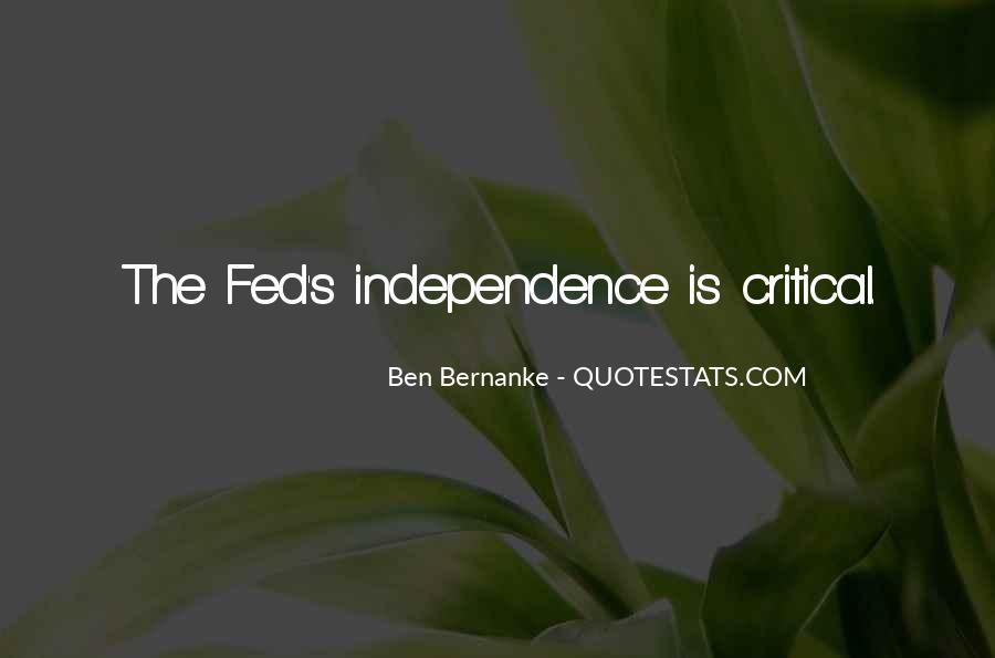 Bernanke Quotes #398070