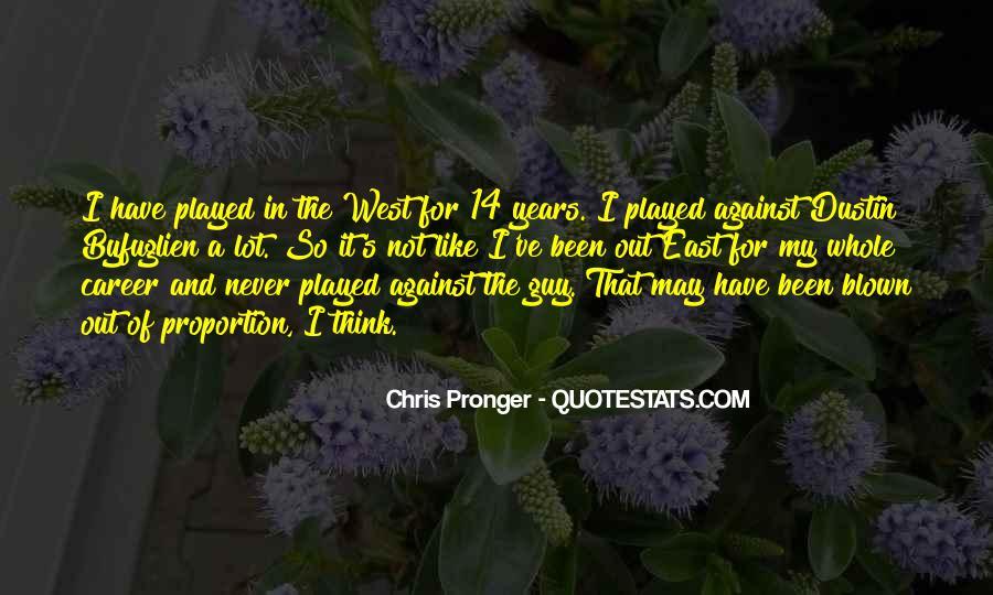 Best Chris Pronger Quotes #481313