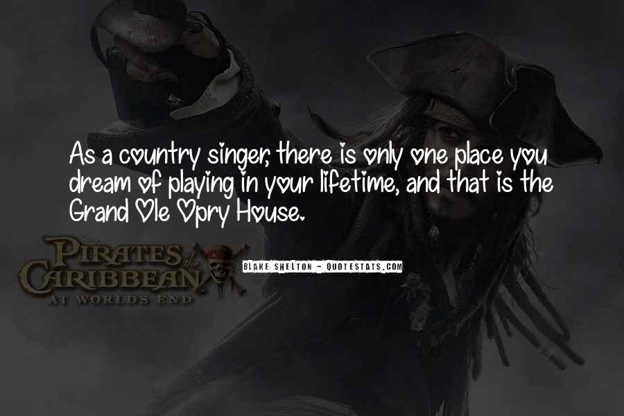 Best Country Singer Quotes #147774