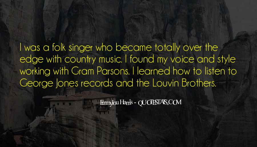 Best Country Singer Quotes #372489