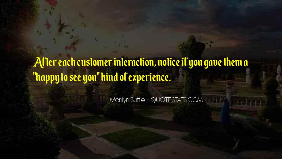 Best Customer Service Experience Quotes #186548