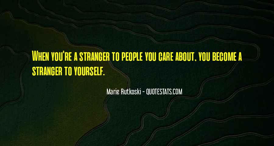 Quotes About Marie The Stranger #950329