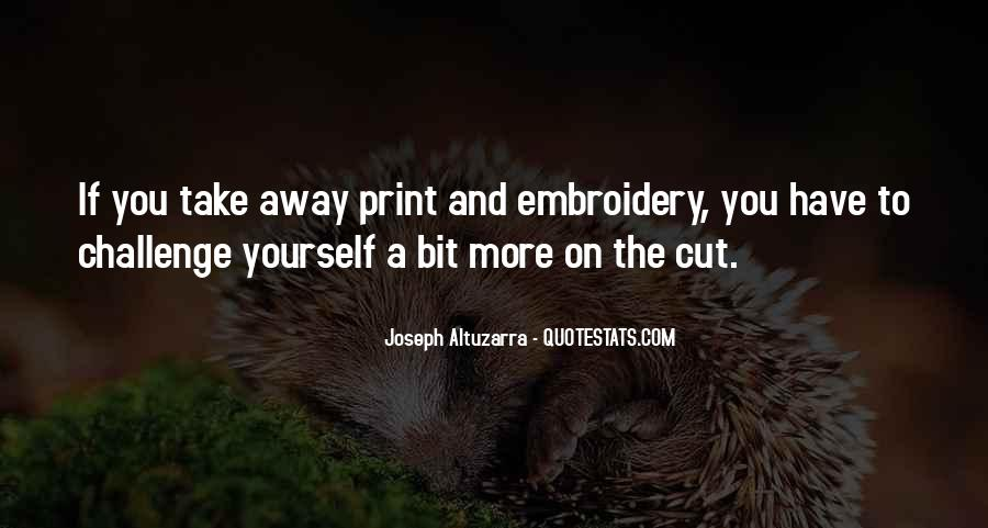 Best Embroidery Quotes #316278