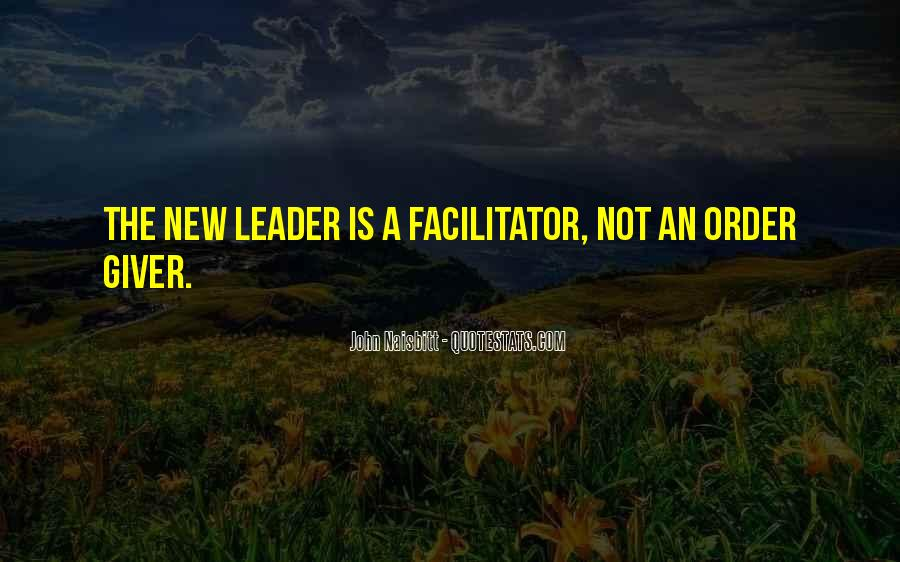 Best Facilitator Quotes #53374