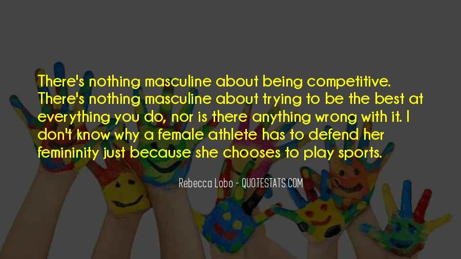 Best Female Athlete Quotes #1196109