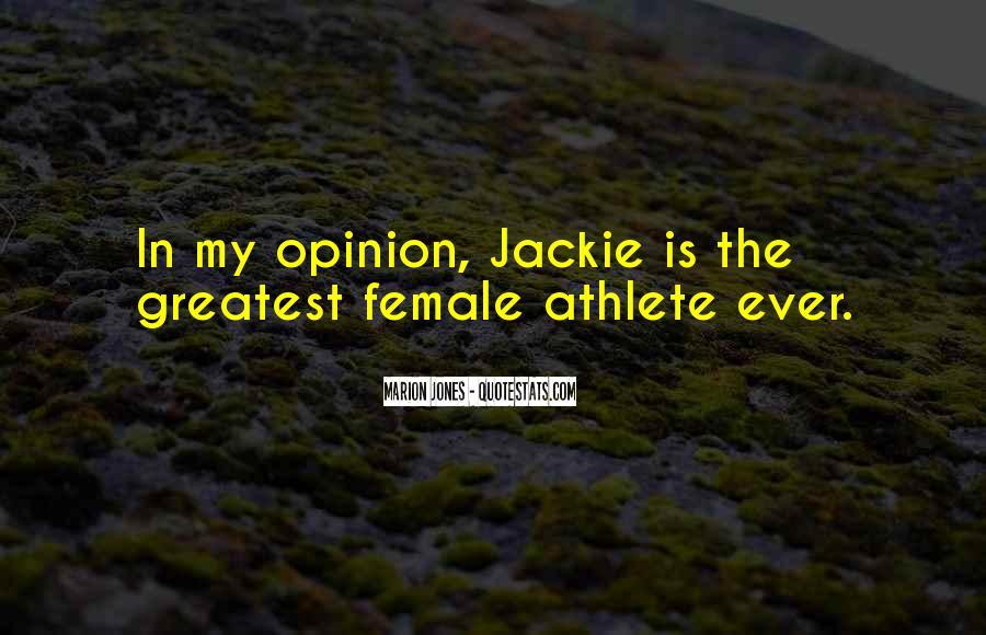 Best Female Athlete Quotes #1341497