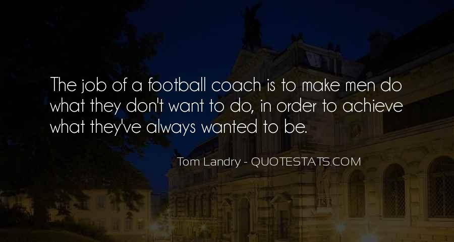 Best Football Coach Quotes #126536