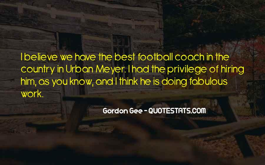 Best Football Coach Quotes #232217