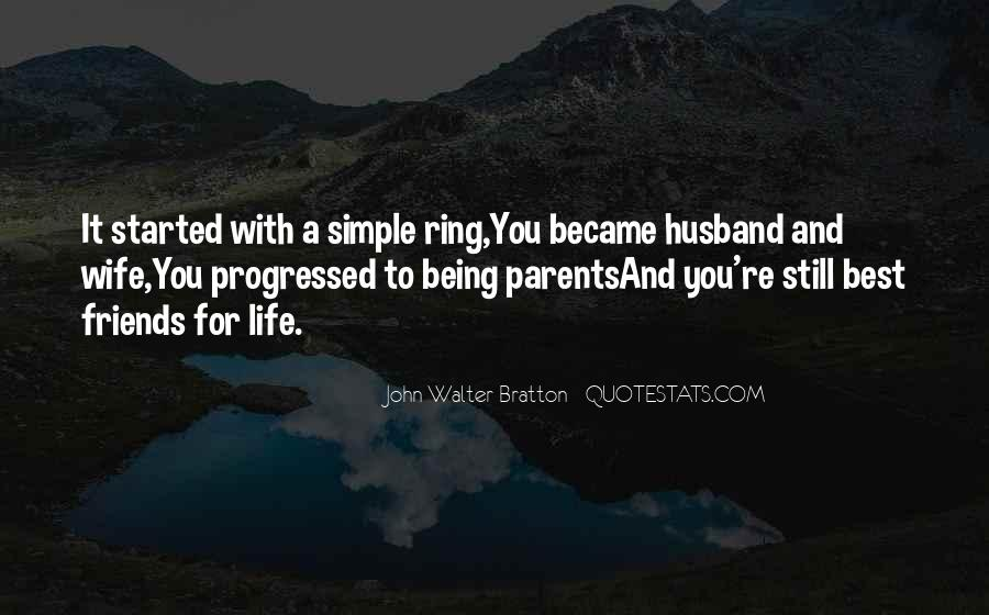 Top 16 Best Friends For Life Husband And Wife Quotes: Famous ...