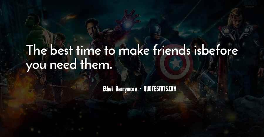 Best Friendship Time Quotes #178382