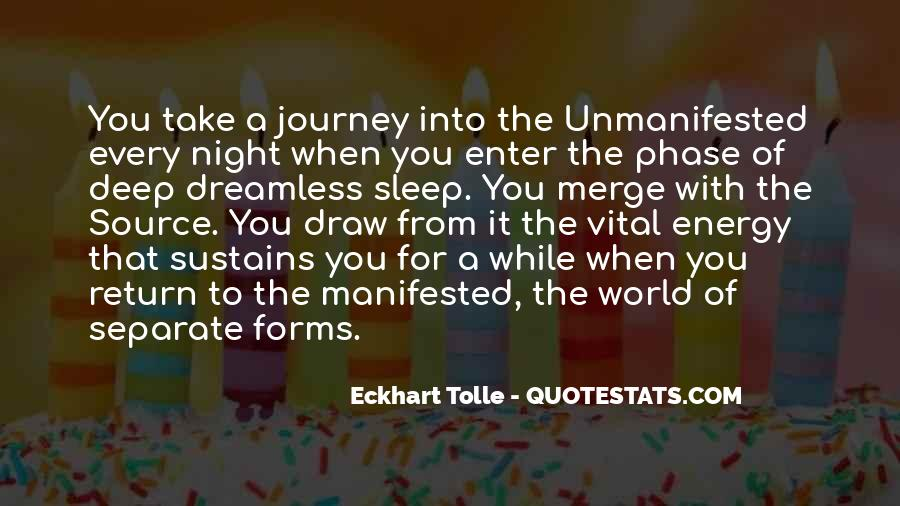 Quotes About Manifested #682594