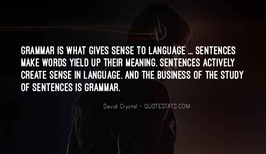 Best Grammar Quotes #139536