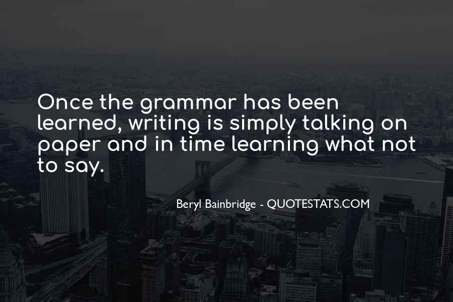 Best Grammar Quotes #215920