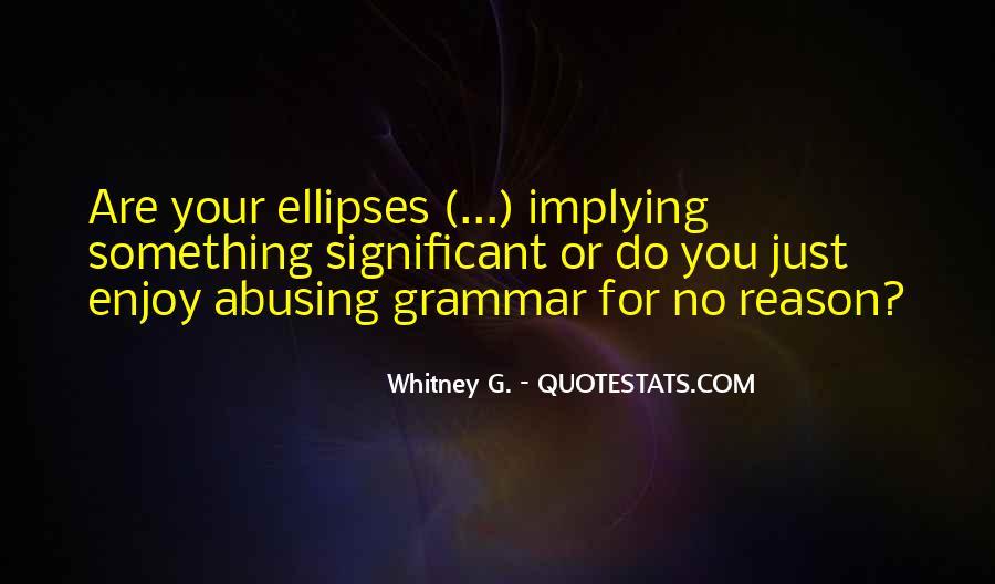 Best Grammar Quotes #241869