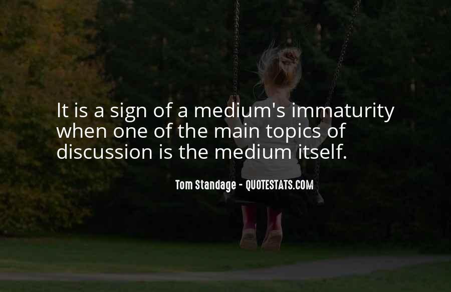 Best Immaturity Quotes #111707
