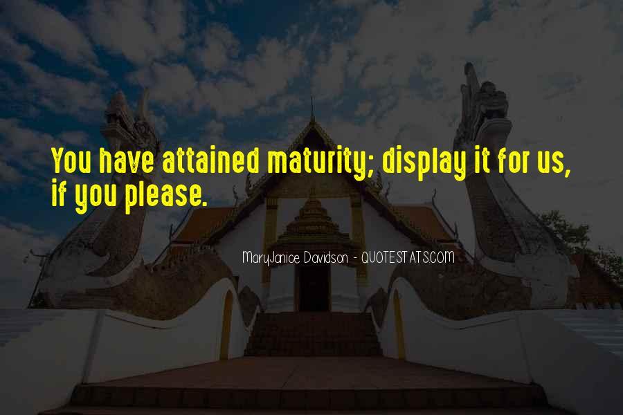 Best Immaturity Quotes #374880