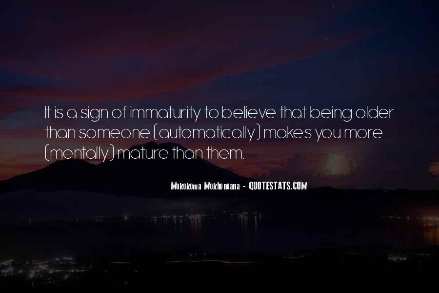 Best Immaturity Quotes #409197