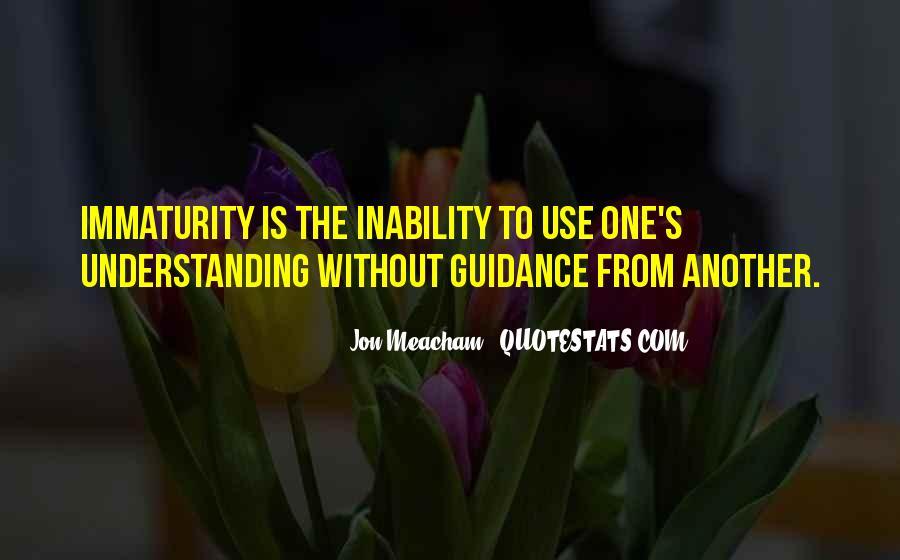 Best Immaturity Quotes #416424