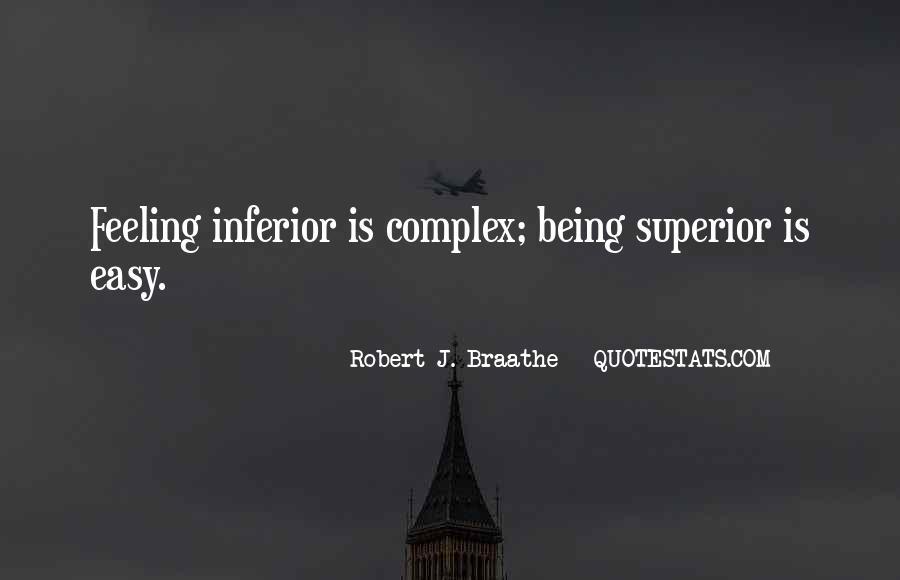 Best Inferiority Quotes #121671