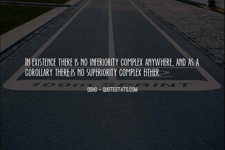 Best Inferiority Quotes #6091