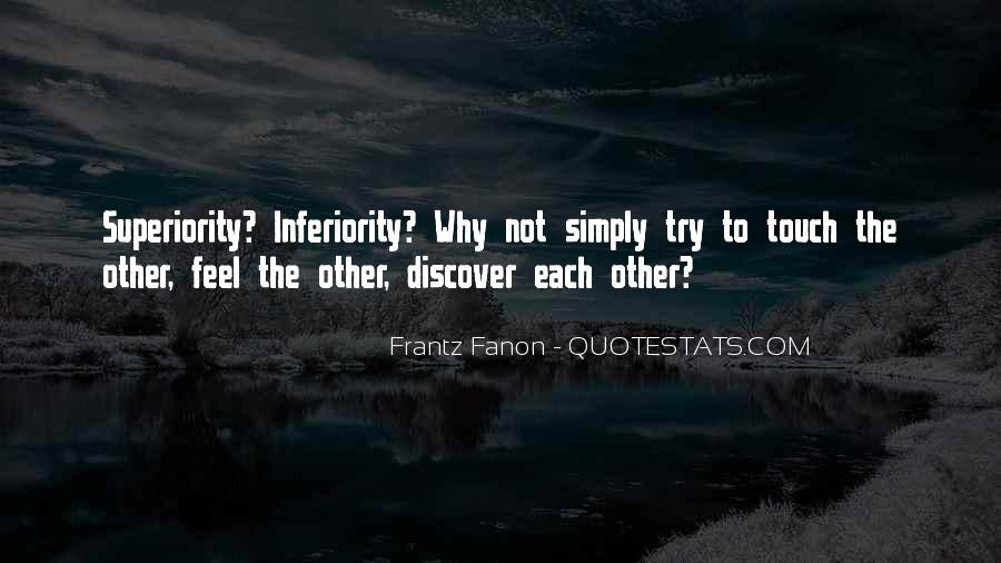 Best Inferiority Quotes #75037