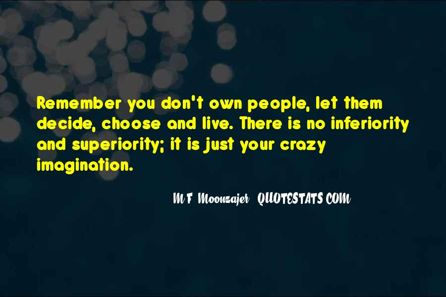 Best Inferiority Quotes #8476