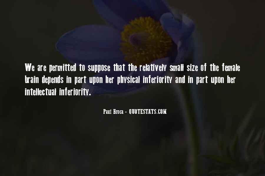 Best Inferiority Quotes #88311