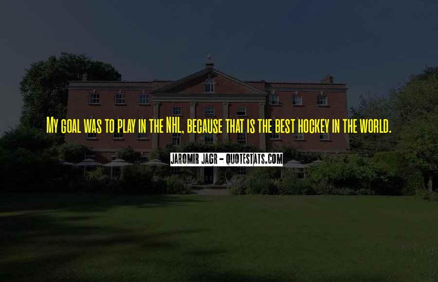 Best Jagr Quotes #805195