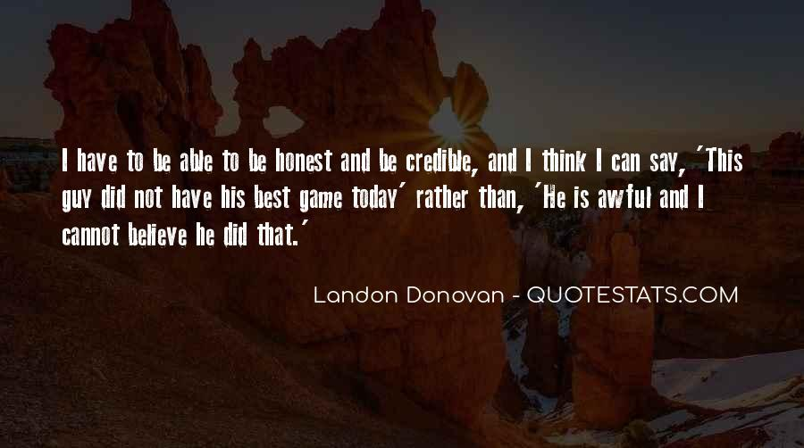 Best Landon Donovan Quotes #312704