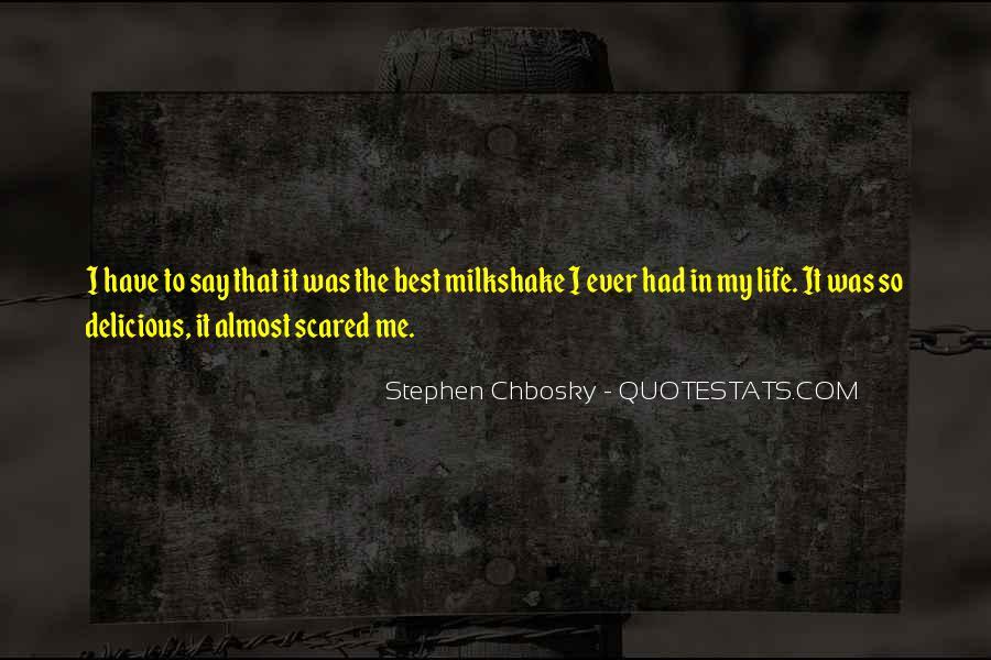 Best Milkshake Quotes #769662