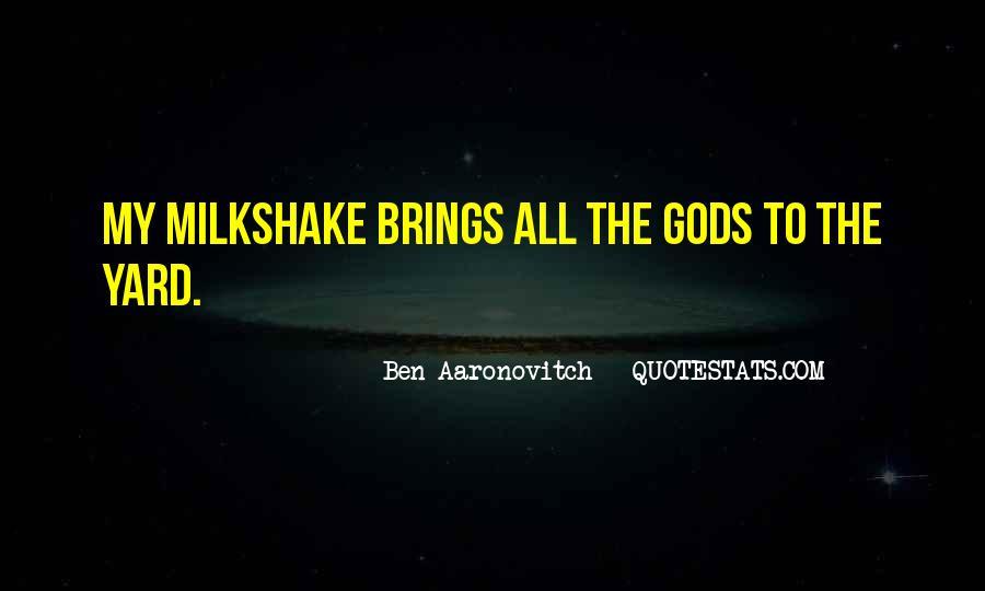 Best Milkshake Quotes #95424