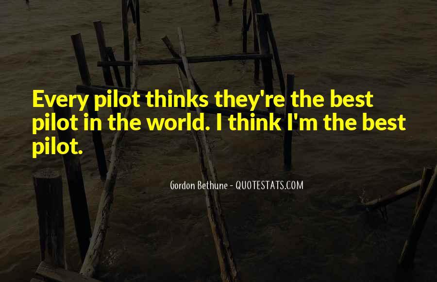 Best Pilot Quotes #339420