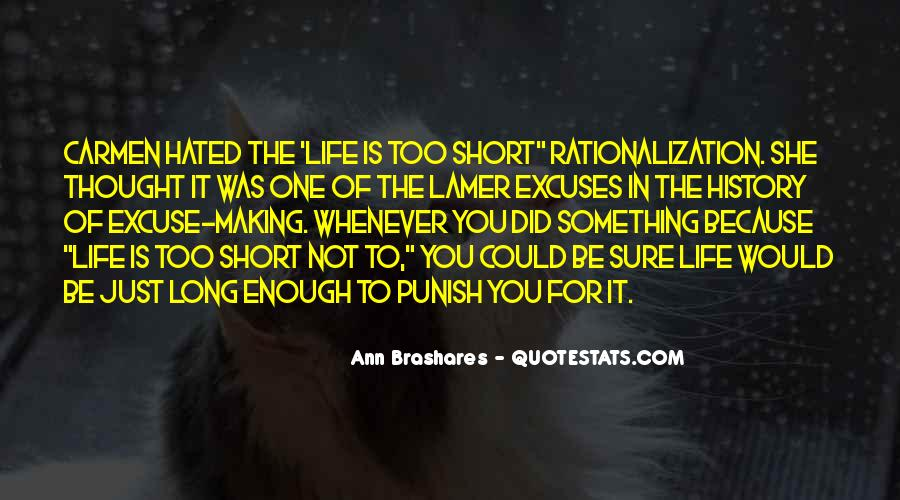 Quotes About Making Excuses In Life #1607140