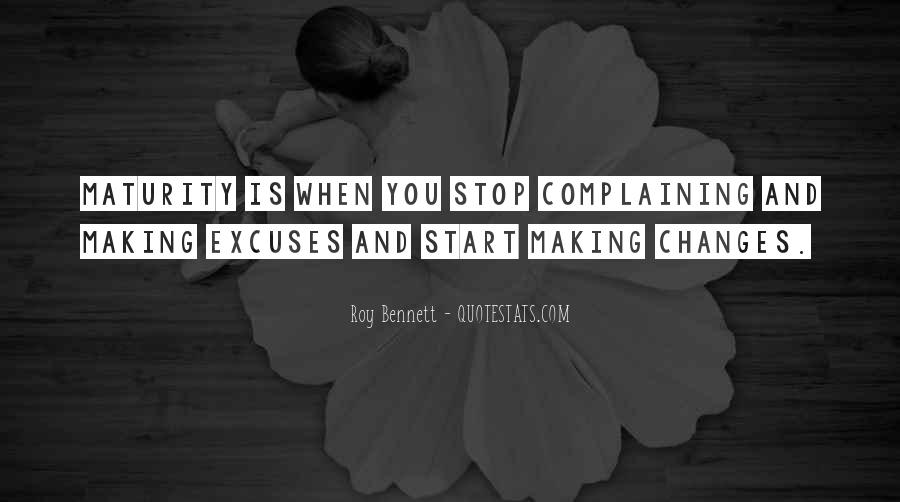 Quotes About Making Excuses In Life #1769287