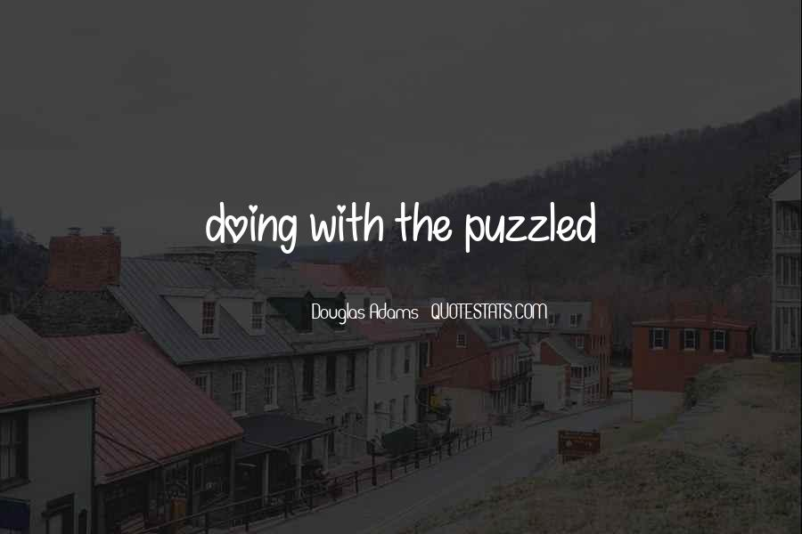 Best Puzzled Quotes #273627
